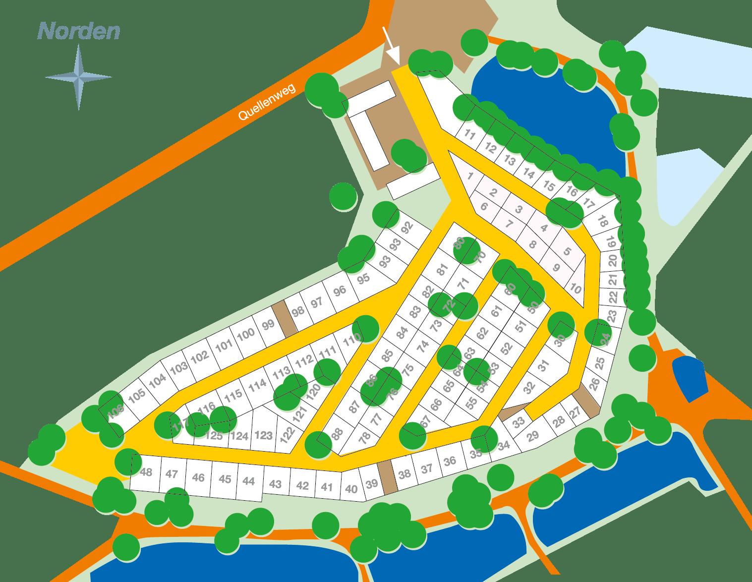 Lageplan Campingplatz Harsefeld
